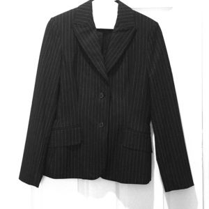 The Limited Stretch Black pinstripe 2 piece suit